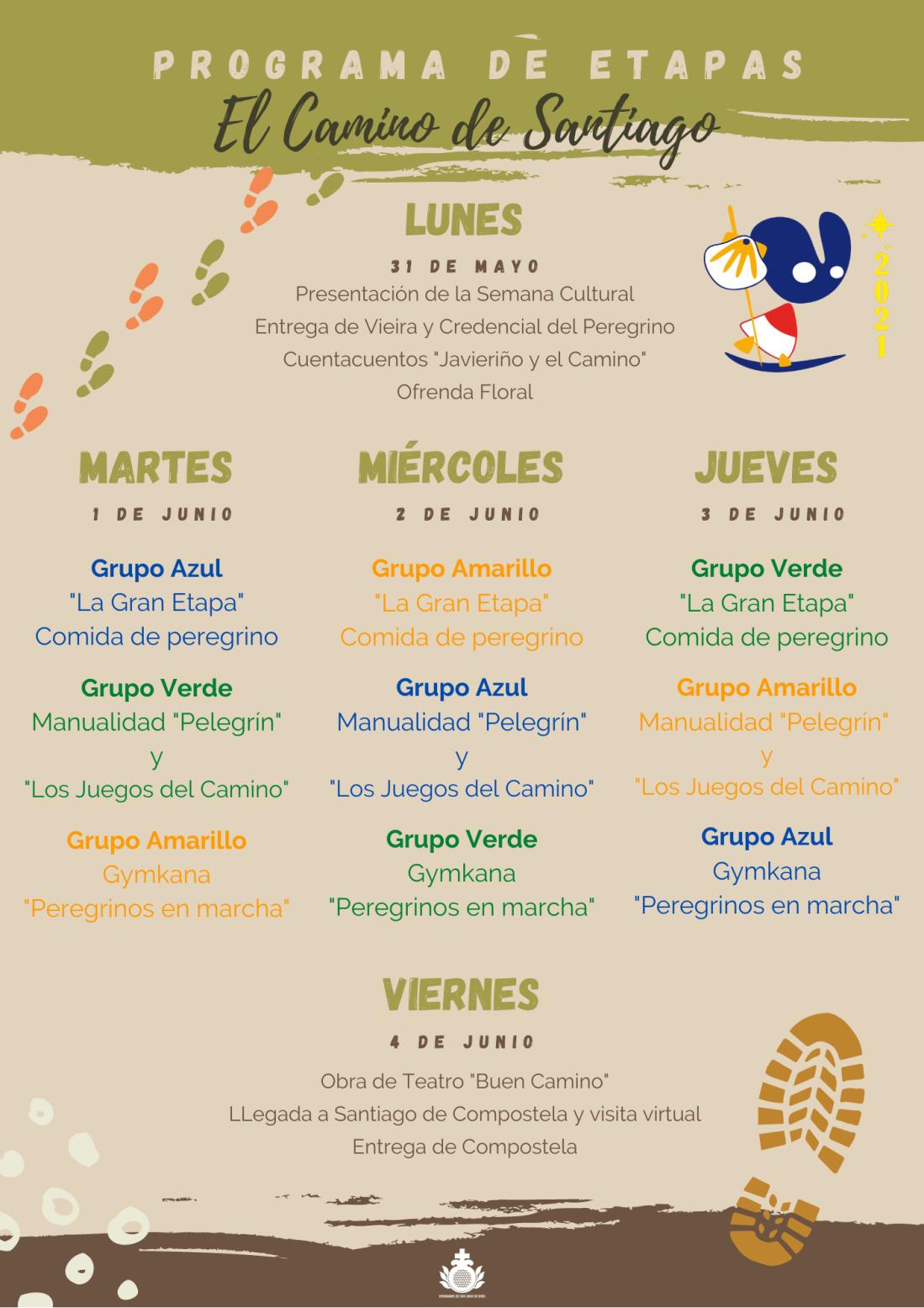 Programa Semana Cultural 2021 Colegio San Juan de Dios